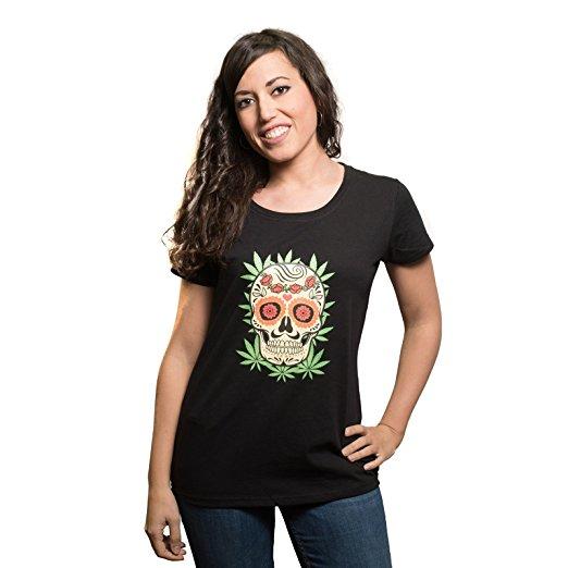 Camiseta Calavera Mexicana Mujer