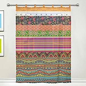 cortina con decoración estilo mexicano